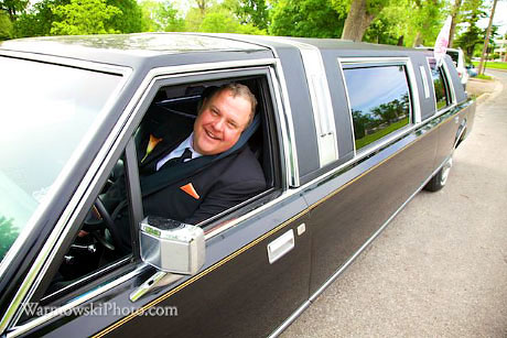 John Gaines took the helm of a fellow car club member's limo.