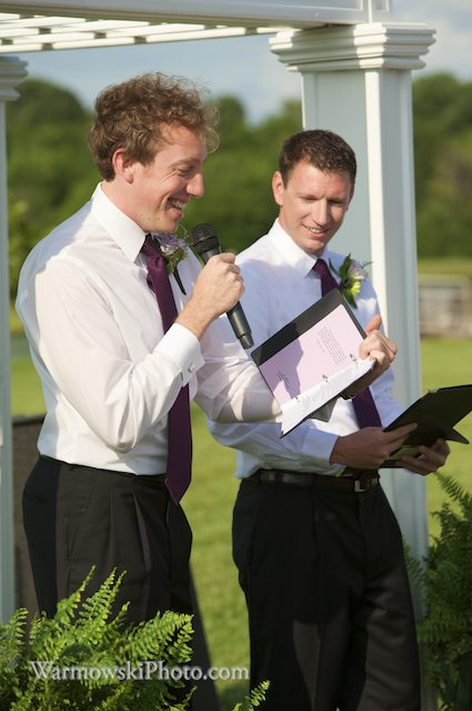 Tim (left) and Kevin were both first-time officiants and their friends' wedding in rural Jacksonville, IL. 17 July 2009.