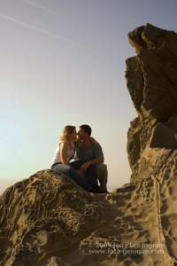 Steve & Tiffany Warmowski on the shores of the Ligurian Sea