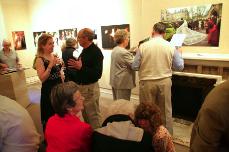 Opening reception at the Strawn