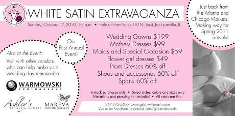 Girls in White Satin Extravaganza, text
