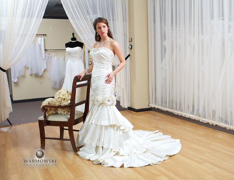 Model in wedding dress, Warmowski Photography