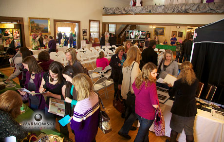 Full house at the Virginia Community Building for the Rushville bridal expo.