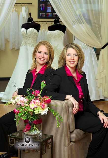 Girls in White Satin owners Terryl Boulanger and Becky Baumgart, warmowskiphotography.com