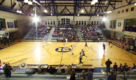 Full-court shot Illinois College basketball - Warmowskiphotography.com