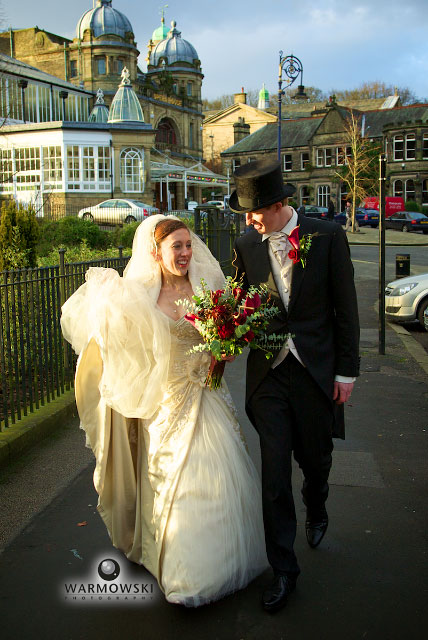 Bride & groom in Buxton England - Warmowskiphoto.com