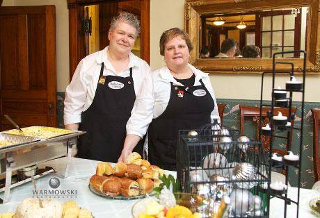 Karen Douglas & Sue Tapscott of Thrifty Sisters Catering.