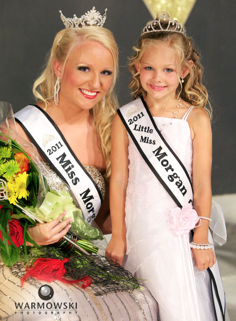 2011 Morgan County Fair pageant winners Queen Calla Marie Kaufmann and Princess Madison Ann Davis. Warmowski Photography