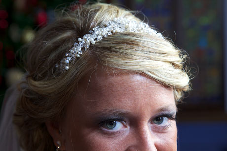 The beautiful tiara Michelle decided on for her wedding day