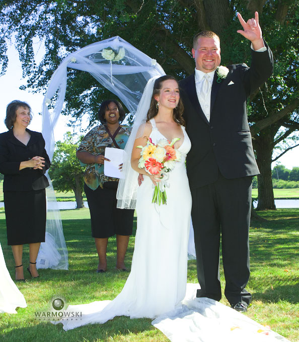 "Deaf groom signs ""I love you"" at wedding ceremony, photography http://www.warmowskiphoto.com"