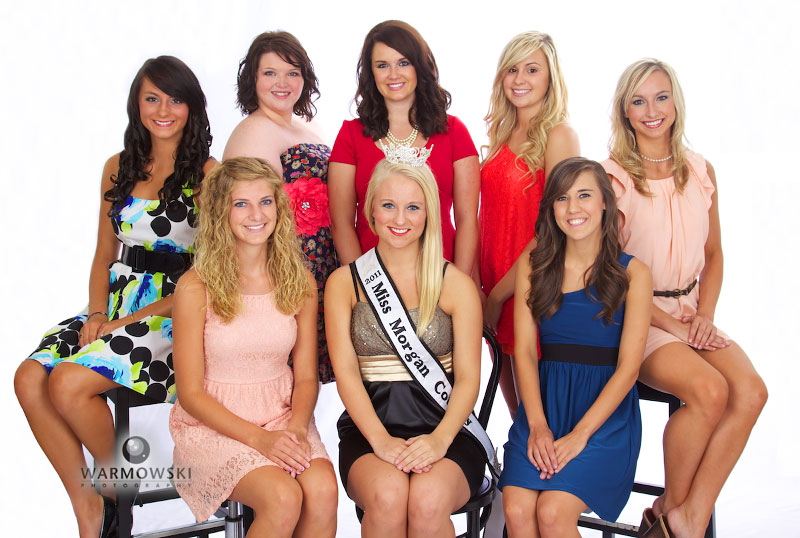 2012 Morgan County Fair Queen  contestants, http://www.warmowskiphoto.com