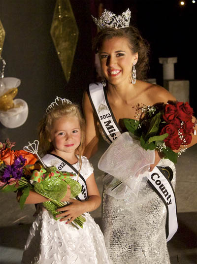 2012 Morgan County Fair pageant winners Queen Lauren Ashleigh Martin and Princess December Ann Mitchell. Warmowski Photography