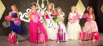Princess royalty (from left) Mackenzie Gerard, Katelyn Adams, 2011 Princess Madison Davis, December Mitchell, Bella Evans & Elle VanNoy