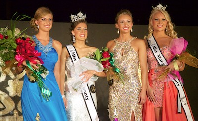 Queen royalty (from left) Sydne Peck, Lauren Martin, Kenzie Jones & 2011 Queen Calla Kaufmann.