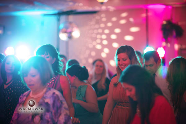 Dance floor with music and lighting by Glass Slipper Entertainment.