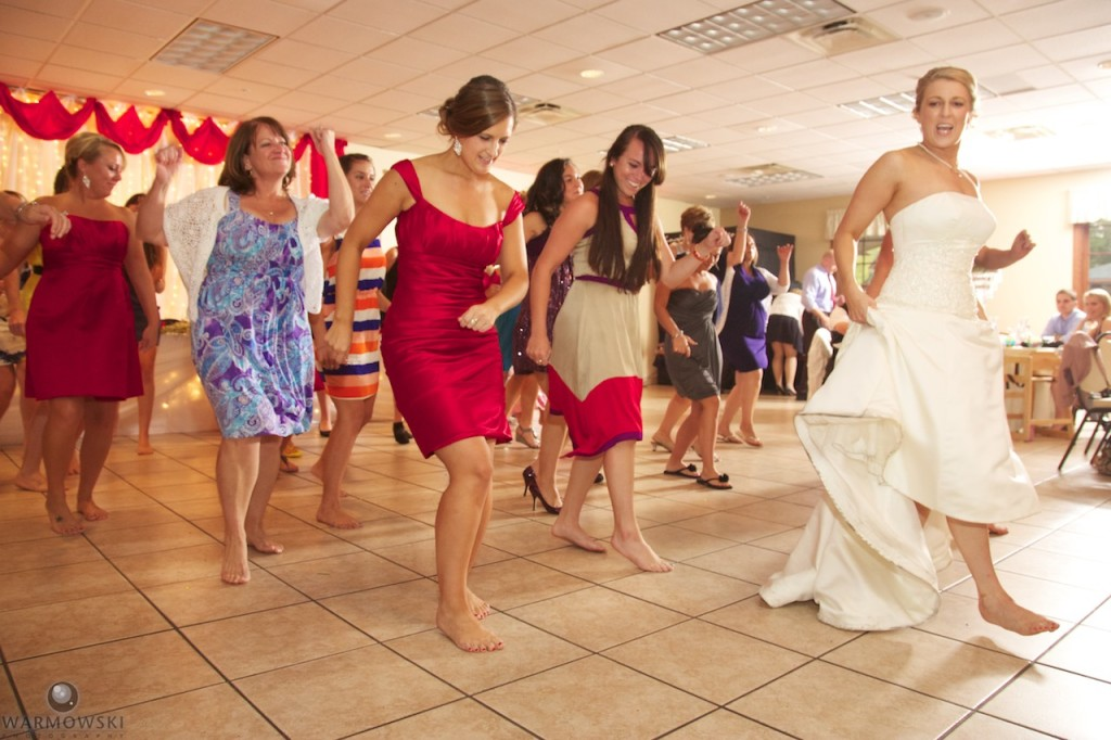 Amanda organized a flash mob dance at their wedding reception.