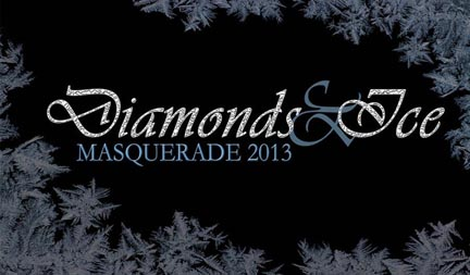 Graphic Diamonds & Ice masquerade ball January 11 2013