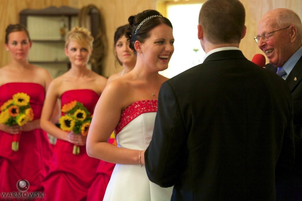Kassie & Matt had their wedding ceremony inside the banquet hall at Buena Vista Farms.