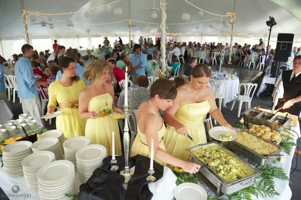 The large tent is a great place for weddings, and attracts couples from throughout the region to Buena Vista Farms.