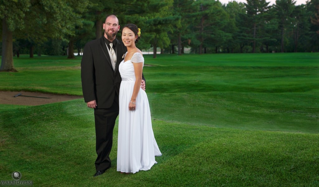 Shiori & Brett on the golf course at Jacksonville Country Club.