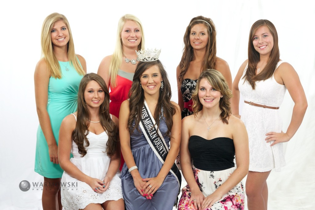 Morgan County Fair 2013 Queen contestants.