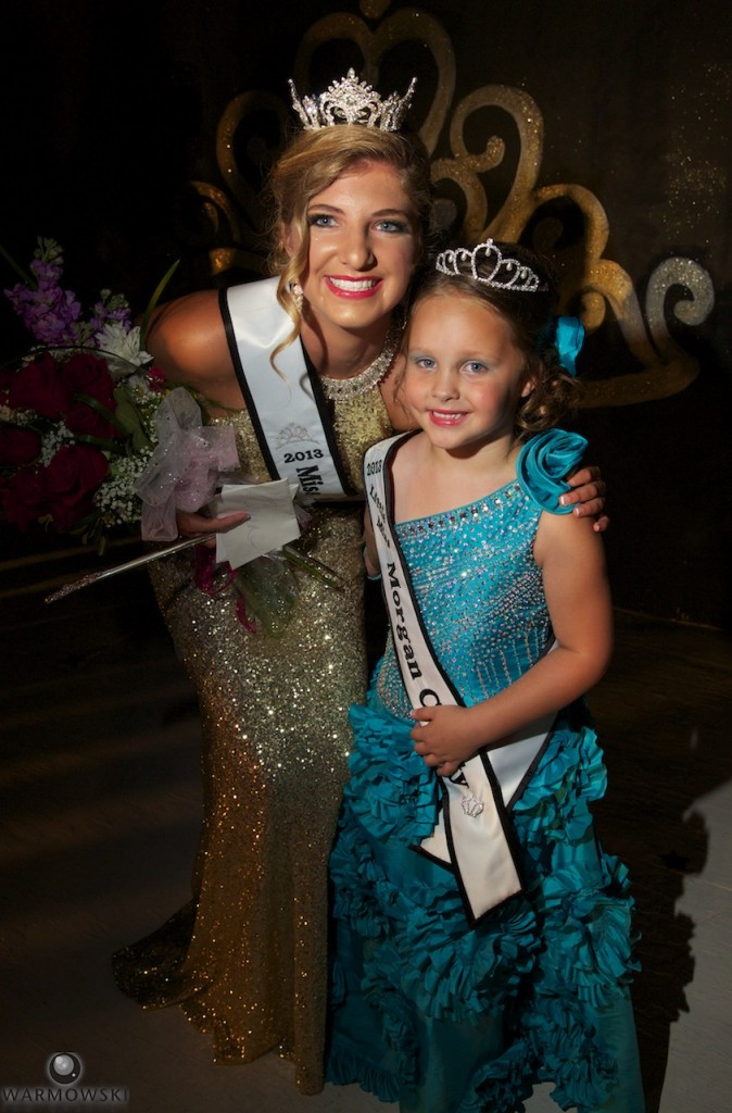 2013 Morgan County Fair pageant winners Queen Sydne Jane Peck and Princess Kenadi Nicole Ryan. by Warmowski Photography