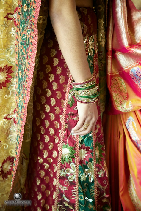 Detail Indian wedding dress sari