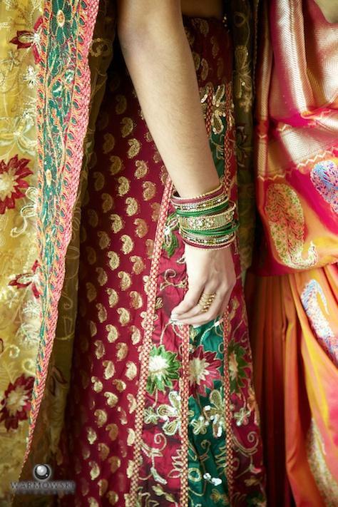 Detail Indian wedding dress sari