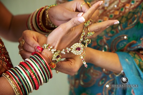 bracelets, jewelry details for Indian wedding