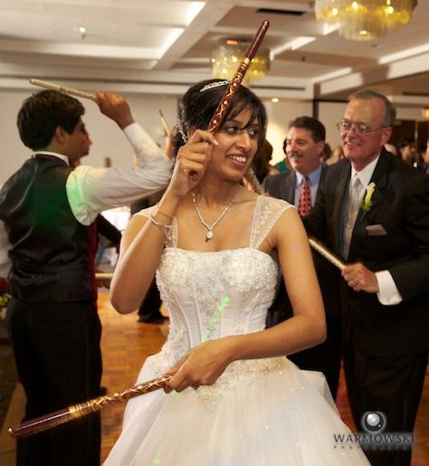 Traditional Stick dancing - Rushita & Benjamin (by Warmowski Photography)