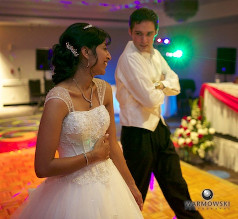 Bride & groom dancing at reception - Rushita & Benjamin (by Warmowski Photography)