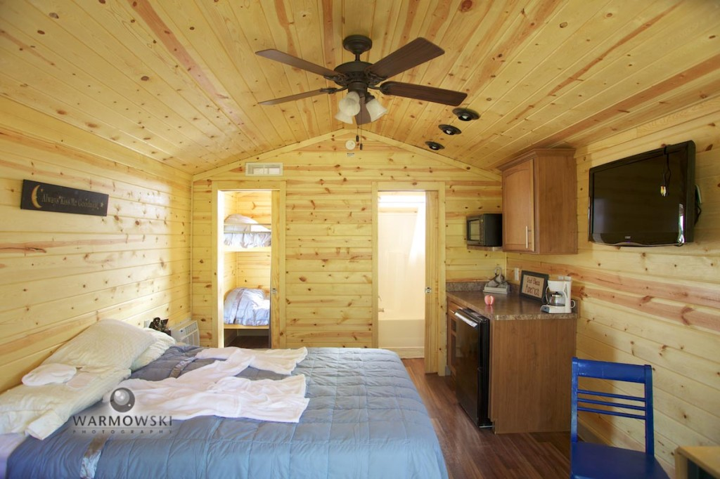 woody cabin interior