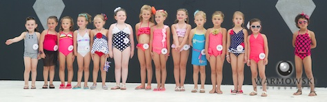 Princess contestants in bathing suits.