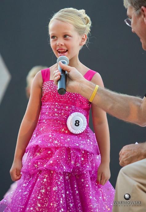 2014 Princess Addyson James with emcee WLDS' Gary Scott.