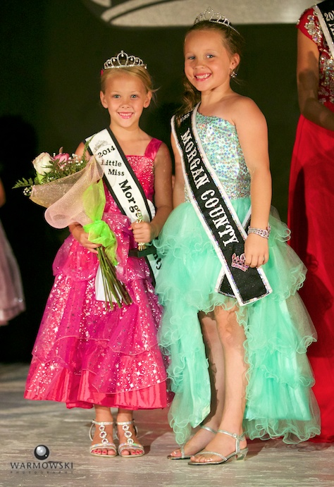Morgan County Fair 2014 Princess Addyson James and 2013 Princess Kenadi Ryan.