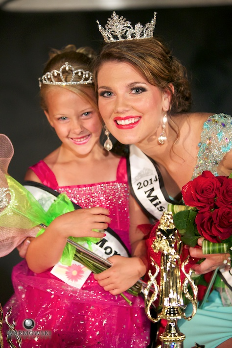 2014 Morgan County Fair Princess Addyson Lynn James and Queen Brianna Elizabeth Klein.