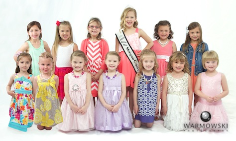 2015 Morgan County Fair Princess contestants with 2014 Princess Addyson James.