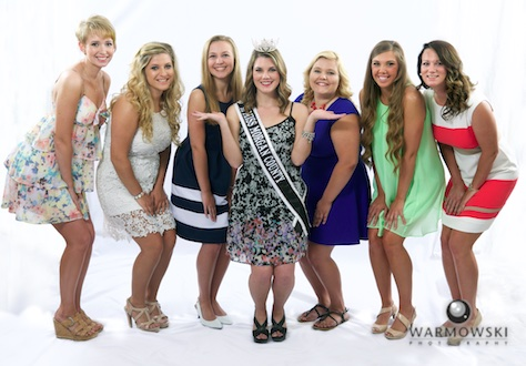 2015 Morgan County Fair Queen contestants with 2014 Queen Brianna Klein.