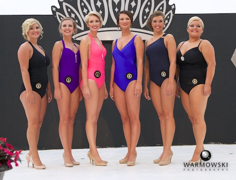 Swimsuit - (from left) Megan Littleton, Alexis Middleton, Hope Wills, Cassidy Crow, Abby Tomhave and Breann Burt.