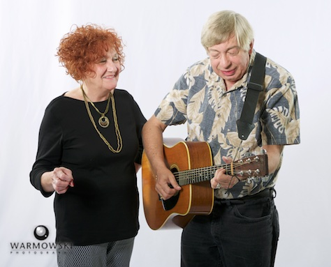 musical performers stan & judy in studio