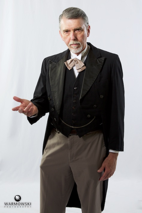 MacMurray College professor Robert Seufert in period attire