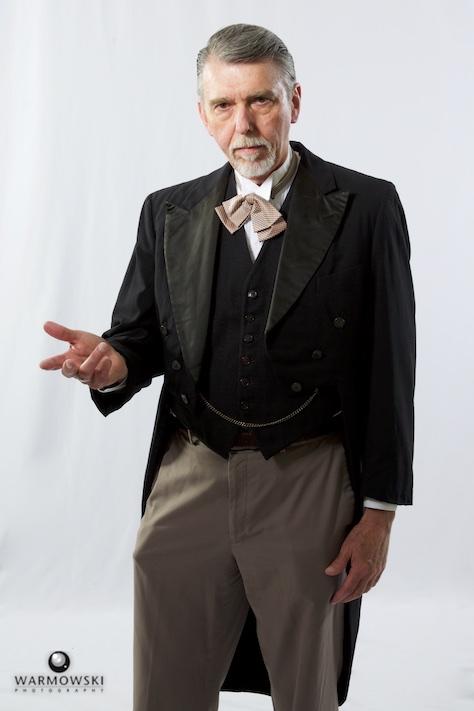 MacMurray College professor Robert Seufert in period attire