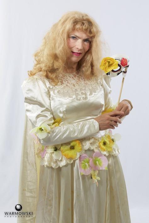 Sherri Mitchell in period costume