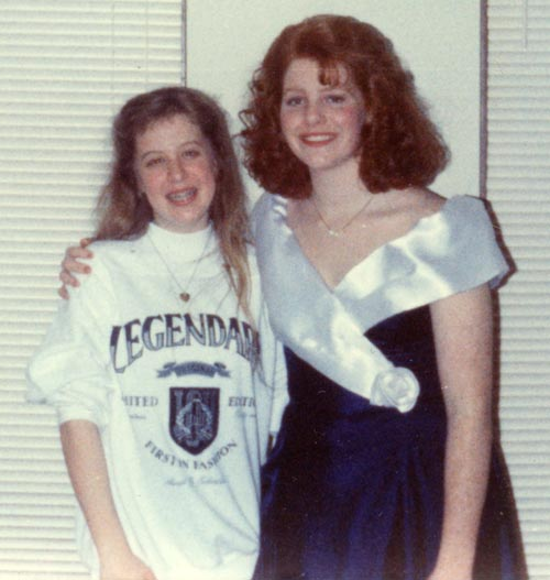 Tiffany Hermon Warmowski & Michelle McIntyre Davlantis circa February 29, 1992 in Lynwood, IL
