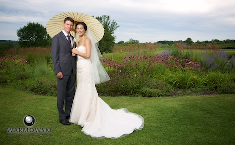 Outdoor portraits featuring eco-conscious roughs, Geneva National Golf Club. Wedding photography by Steve & Tiffany Warmowski