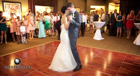 First dance, reception at Geneva National Golf Club. Wedding photography by Steve & Tiffany Warmowski
