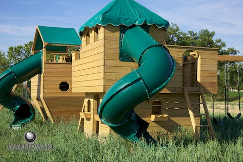 Outdoor play equipment at Buena Vista Farms wedding venue. Wedding photography by Steve & Tiffany Warmowski