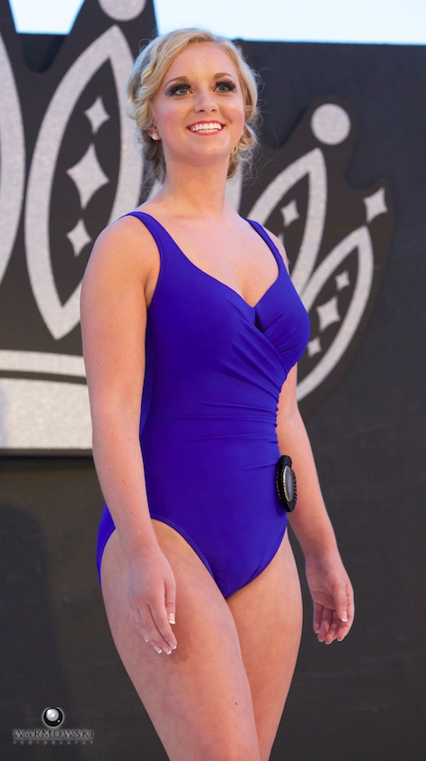 Queen Taylor Zoerner in bathing suit.