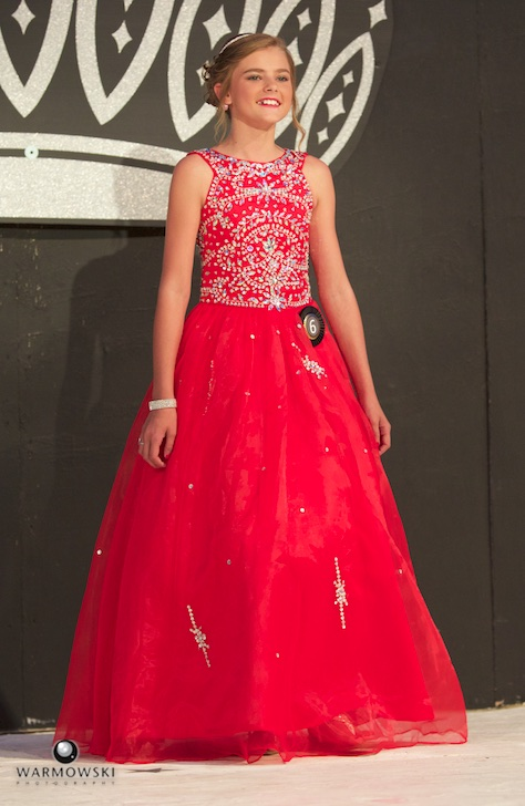 2016 Morgan County Fair Junior Miss Kaylee Ford in dress.