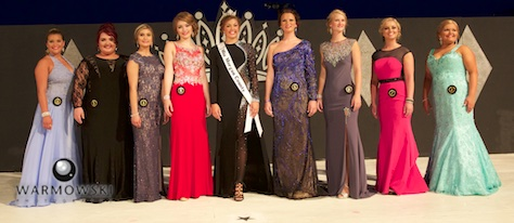Morgan County Fair Queen contestants in evening gowns (from left) Paige Hamilton, Marrion Ore, Autumn Browning, Blaire Long, Cassidy Crow, Jessica Shumaker, Taylor Zoerner and Breann Burt